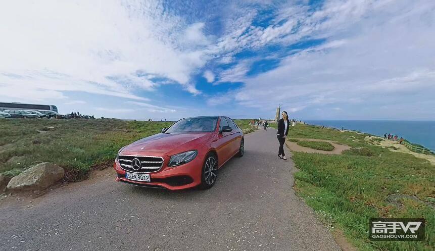 香车美女:外国美女试驾奔驰全景视频
