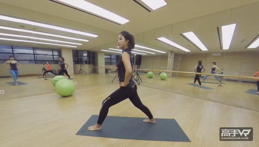 绝佳身材:韩国美女教你做瑜伽全景视频#1